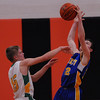 Cowden-Herrick's Caleb Heiserman deflects a pass against Patoka at the Ramsey/Mulberry Grove Thanksgiving Tournament.