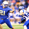 11-29-13  --  Tri-Central Football State Champions. Garrett Kelley running the ball in the first quarter. <br />   KT photo | Tim Bath