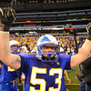 11-29-13  --  Tri-Central Football State Champions. Riley Smeltzer celebrates after they win the state championship against the Eastern Hancock Royals.<br />   KT photo | Tim Bath