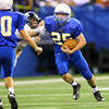 11-29-13  --  Tri-Central Football State Champions. Dillon Smith running in the 4th quarter.<br />   KT photo | Tim Bath
