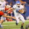 11-30-13<br />   Tipton HS Football State Championship Runner-up<br />   Jake Langley running through the line as Tipton makes a last strong run in the 4th quarter.<br />   KT photo | Tim Bath