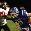 11-22-13<br /> Tipton Semistate<br /> Rensselaer's Austin Fleming tries to tackle Tipton's Austin Hooker.<br /> KT photo | Kelly Lafferty