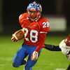 11-1-13  --  Sectional Football between KHS and McClutcheon  --  Kokomo's Jeron Gray running to the outside in the 4th quarter.<br />   KT photo | Tim Bath