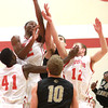 11-6-13<br /> IUK basketball vs. Purdue Calumet<br /> IUK's David Kelly jumps up to get the rebound.<br /> KT photo | Kelly Lafferty