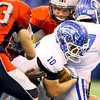 11-30-13<br />   Tipton HS Football State Championship Runner-up<br />   Tipton's Nate Hein running.<br />   KT photo | Tim Bath