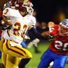 11-1-13  --  Sectional Football between KHS and McClutcheon  --  McClutcheon's Nate Deno on a run during their last efforts of the first half that failed to bring the score past 6-7.<br />   KT photo | Tim Bath