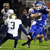 11-15-13<br /> Tipton vs. Oak Hill regional football<br /> Tipton's Nate Hein dodges around Oak Hill's defense.<br /> KT photo | Kelly Lafferty