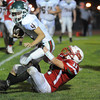 Effingham's Payton Bushue takes down a Salem defender. Bushue was an All-Apollo Conference selection.