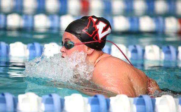 11-18-14 Swimming-KHS vs WHS Western's  Brittany Lake in the 200 Yard IM Kelly Lafferty Gerber | Kokomo Tribune
