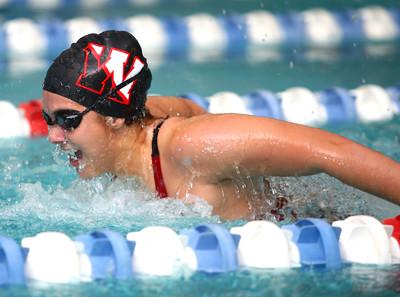11-18-14 Swimming-KHS vs WHS Western's Claire Casner in the 100 Yard Butterfly. Kelly Lafferty Gerber | Kokomo Tribune
