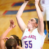 11-14-14<br /> Kokomo vs. Northwestern girls basketball<br /> Kokomo's Sieara Langley goes for the net.<br /> Kelly Lafferty Gerber | Kokomo Tribune