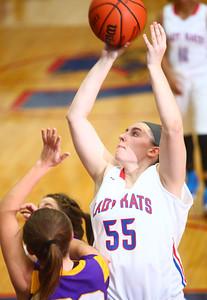 11-14-14 Kokomo vs. Northwestern girls basketball Kokomo's Sieara Langley goes for the net. Kelly Lafferty Gerber | Kokomo Tribune