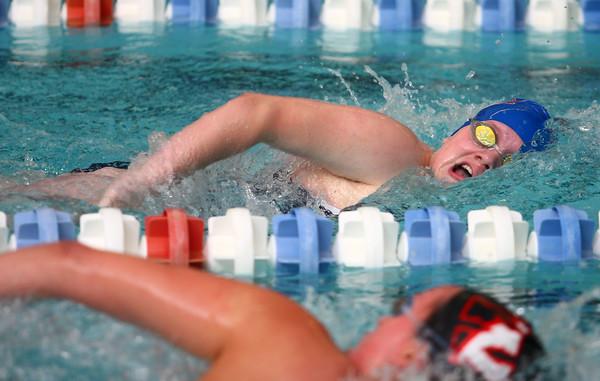 11-18-14 Swimming-KHS vs WHS Kokomo's Morgan Reecer in the 200 Yard Freestyle. Kelly Lafferty Gerber | Kokomo Tribune