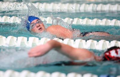 11-18-14 Swimming-KHS vs WHS Kokomo's Morgan Reecer in the 500 Yard Freestyle. Kelly Lafferty Gerber | Kokomo Tribune
