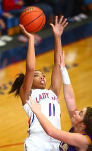 11-14-14 Kokomo vs. Northwestern girls basketball Kokomo's Quaynika Merriweather goes up for a shot. Kelly Lafferty Gerber | Kokomo Tribune