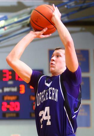 11-29-14<br /> Tri Central vs Northwestern basketball<br /> Northwestern's Blake Oakley shoots.<br /> Kelly Lafferty Gerber | Kokomo Tribune