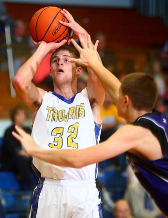 11-29-14<br /> Tri Central vs Northwestern basketball<br /> Tri Central's Cody Howell shoots.<br /> Kelly Lafferty Gerber | Kokomo Tribune