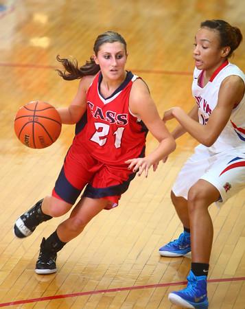 11-19-14<br /> Kokomo vs Cass basketball<br /> Lewis Cass' Ashton McClain tries to get around Kokomo's defense.<br /> Kelly Lafferty Gerber | Kokomo Tribune