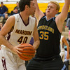 Cumberland's Brandon Shaon tries to keep Dieterich's Noah Heuerman away from the basket at the Cumberland Thanksgiving Tournament.