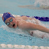 Western Boone's Olivia Richardson comes down the home stretch in the 100-yard butterfly on Thursday evening. Richardson won the event against Fountain Central.