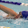 WeBo's Shelby Dorwart places second in the 500-yard freestyle on Thursday.