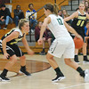 Lebanon's Kassidi Cadle defends Covenant Christian's Mikayla Cleary in Friday night's game in Indianapolis.