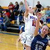 CHBC's Hailey Persinger goes for a layup over the defense of South Central's Deidre Hall at Cowden-Herrick.