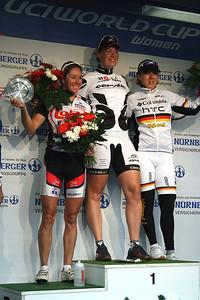 1st Kirsten Wild, 2nd Rochelle Gilmore and 3rd Ina-Yoko Teutenberg.