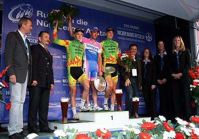 The podium, Felix Rinker (2nd), Francesco Gavazzi (1st) and Nils Plötner (3rd).