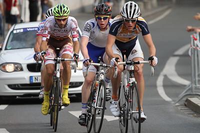 Frühe Spitzengruppe, Hoffmann, Grasmann (Rudy Project Racing Team), Schnaidt (Sevenstones) und Kohlhofer (Erdgas Schwaben)