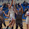 Bay's Maeve Johnston takes the ball to the hoop. Jen Forbus -- The Morning Journal