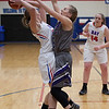 Wildcat Haley Sprouse  makes sure she's the only thing Rocket Maddie Edgerly can see. Jen Forbus -- The Morning Journal