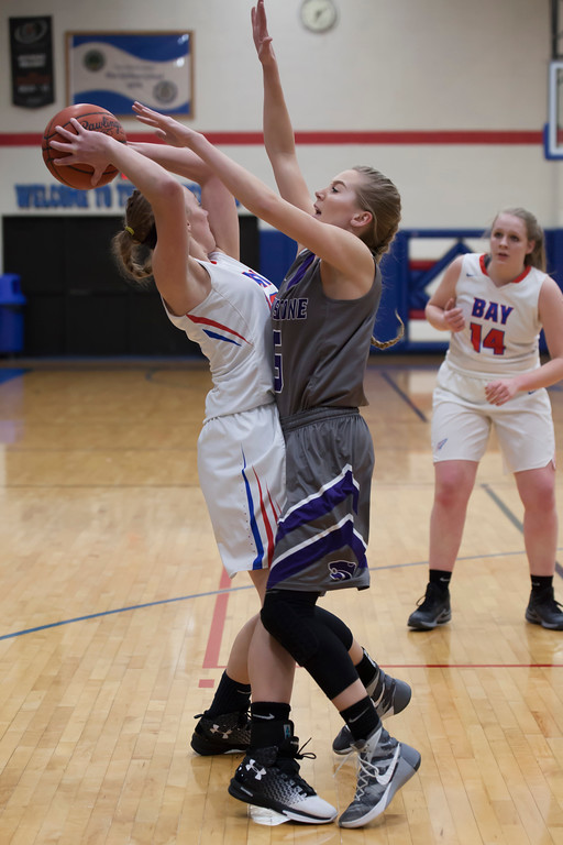 . Wildcat Haley Sprouse  makes sure she\'s the only thing Rocket Maddie Edgerly can see. Jen Forbus -- The Morning Journal
