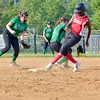 Firelands' Jae'lyse Witherspoon steals second on Tuesday against Columbia. JESSE GRABOWSKI / CHRONICLE