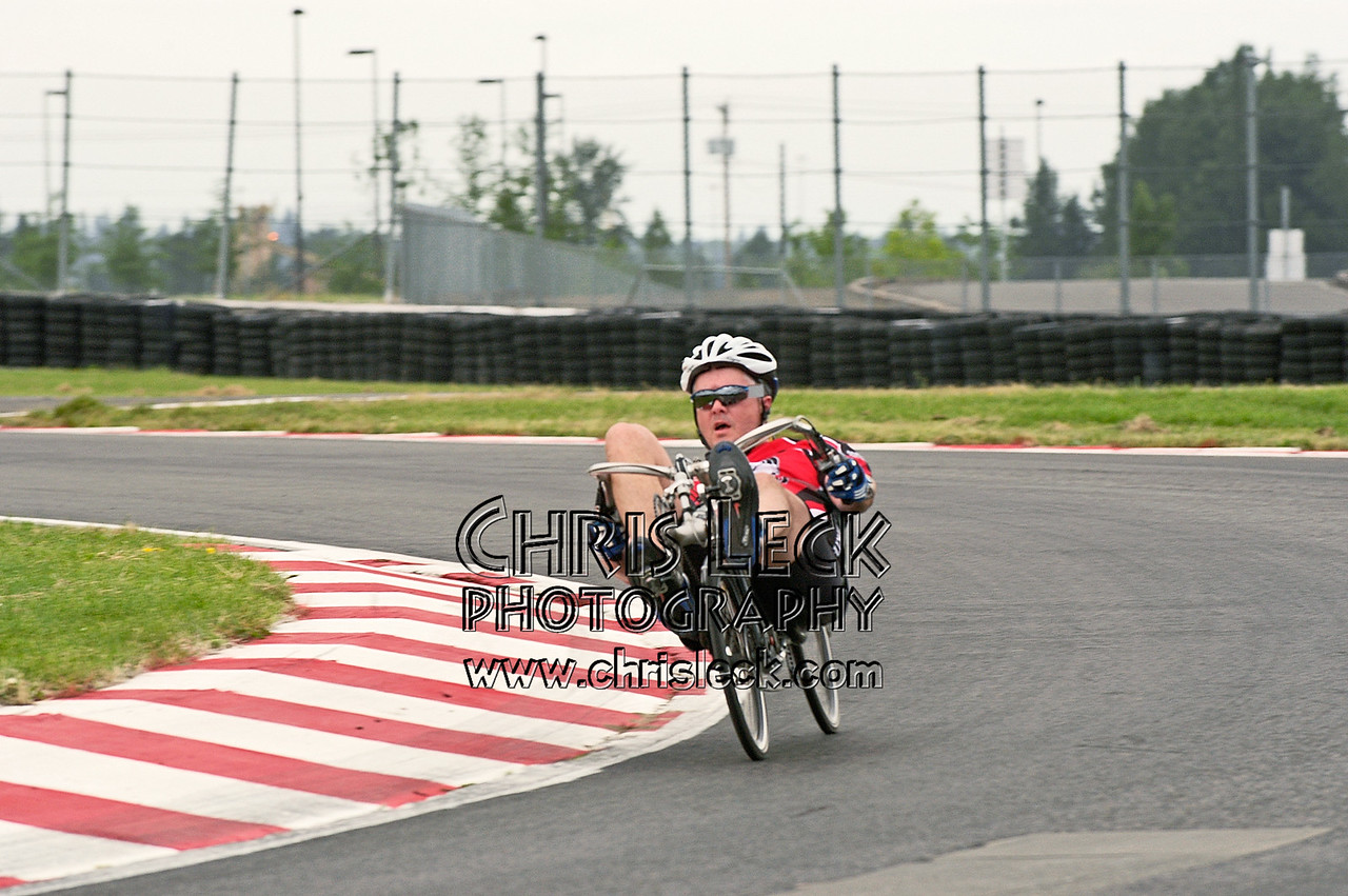 Dave Neilson. Road race, unfaired divisions. Oregon Human Powered Vehicles 6th Annual Human Power Challenge, May 29, 2005, Portland International Raceway.