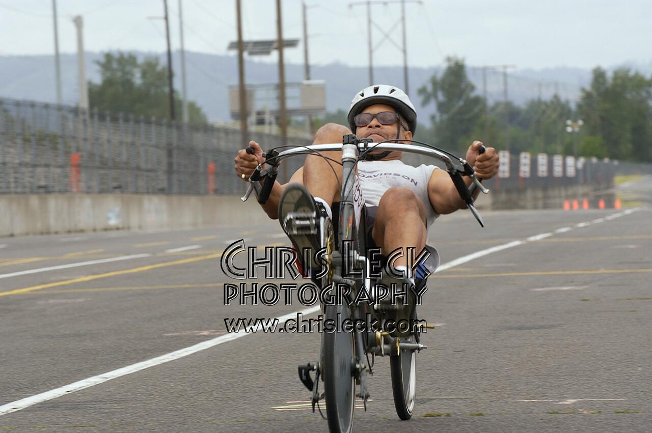 William Martin. 200-meter sprints. Oregon Human Powered Vehicles 6th Annual Human Power Challenge, May 29, 2005, Portland International Raceway.