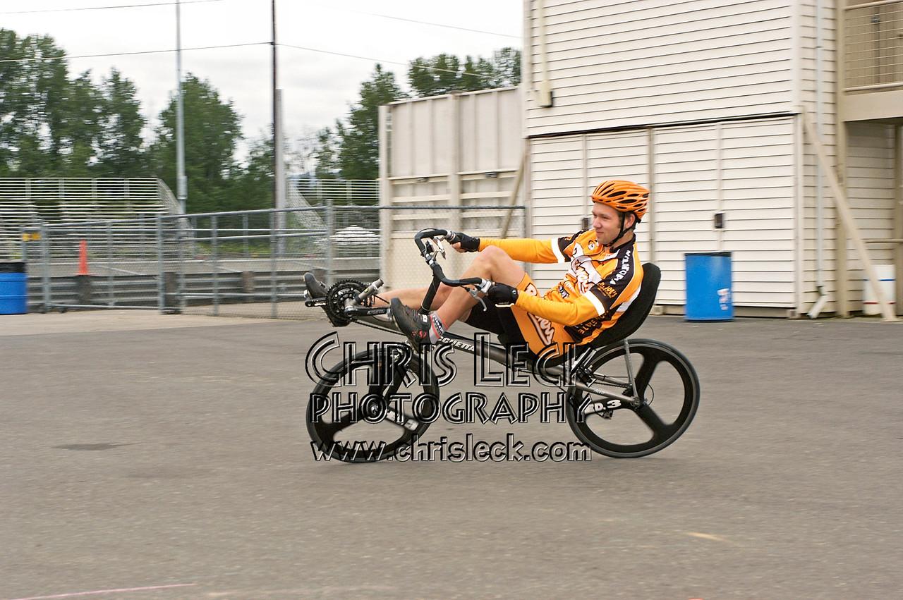 Chris Sandmel. Autocross. Oregon Human Powered Vehicles 6th Annual Human Power Challenge, May 29, 2005, Portland International Raceway.