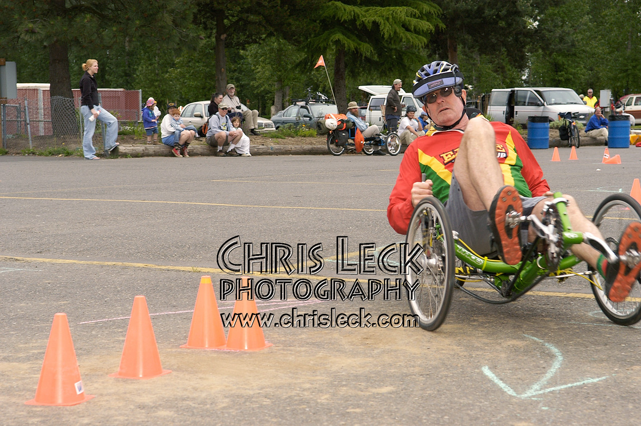 Bruce DeBell. Autocross. Oregon Human Powered Vehicles 6th Annual Human Power Challenge, May 29, 2005, Portland International Raceway.