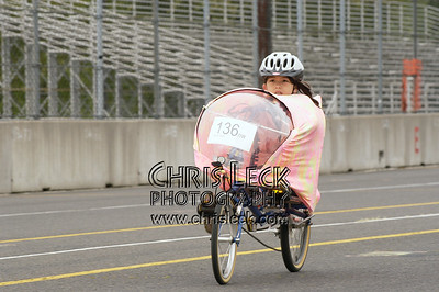 Alexa Climaldi. 200-meter sprints. Oregon Human Powered Vehicles 6th Annual Human Power Challenge, May 29, 2005, Portland International Raceway.
