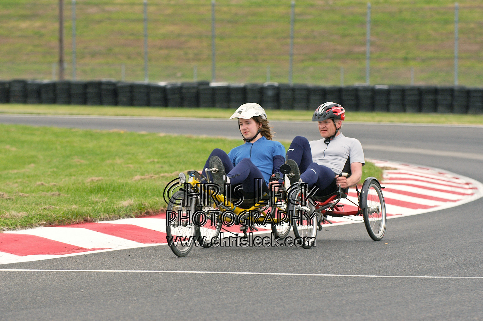 Alex and Keith Kohan. Road race, unfaired divisions. Oregon Human Powered Vehicles 6th Annual Human Power Challenge, May 29, 2005, Portland International Raceway.