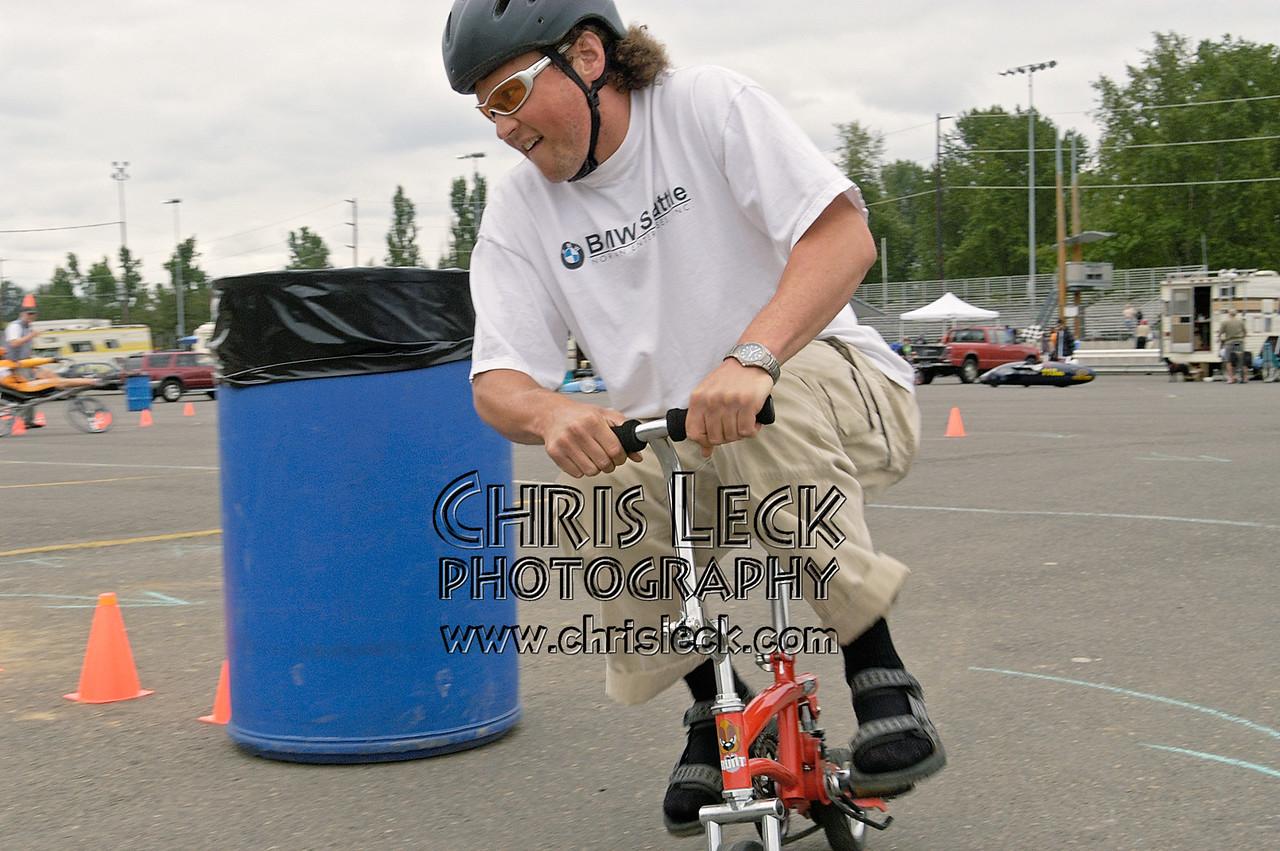 Dustin Wood. Autocross. Oregon Human Powered Vehicles 6th Annual Human Power Challenge, May 29, 2005, Portland International Raceway.