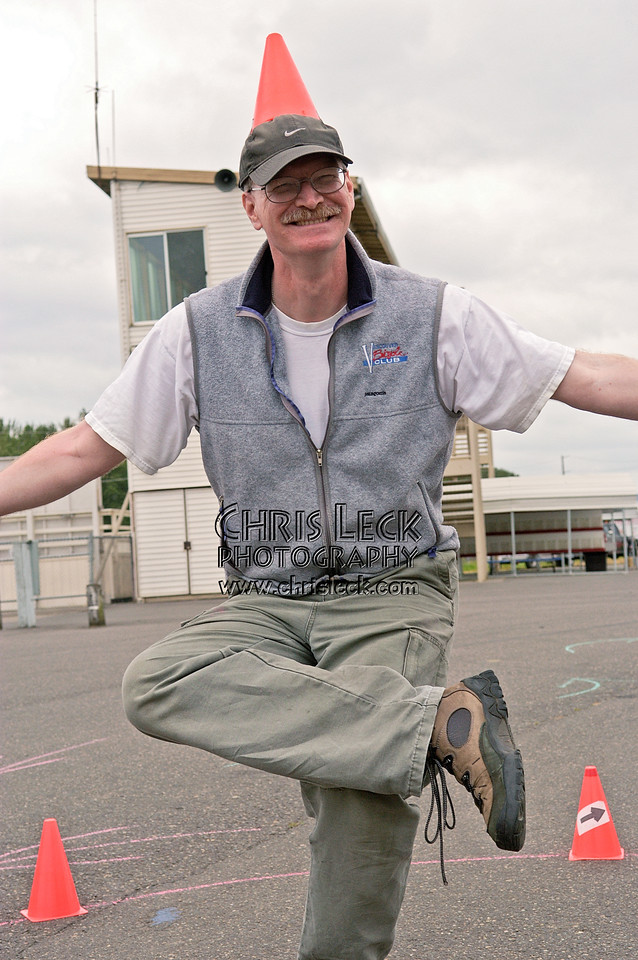 Jeff Wills does the magic Autocross dance. Oregon Human Powered Vehicles 6th Annual Human Power Challenge, May 29, 2005, Portland International Raceway.
