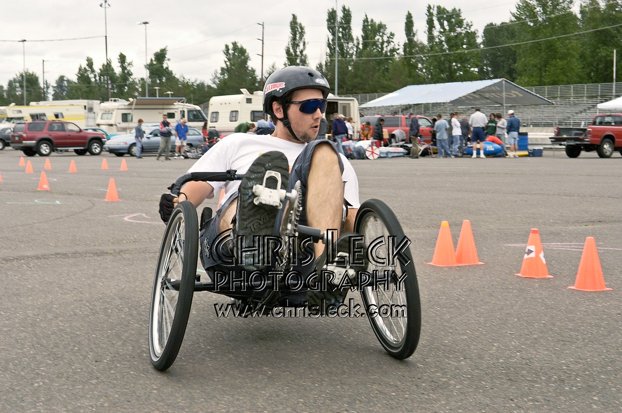 Kelsey Wood. Autocross. Oregon Human Powered Vehicles 6th Annual Human Power Challenge, May 29, 2005, Portland International Raceway.