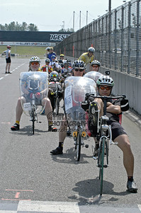 Waiting to start the time trial. Oregon Human Powered Vehicles 6th Annual Human Power Challenge, May 28, 2005, Portland International Raceway.