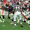 BALTIMORE, MD - SEPTEMBER 24: Running back Jamal Lewis #31 of the Baltimore Ravens carries the ball for several yards while outrunning Linebackers Armegis Spearman #59 and Steve Foley #95 who are both of the Cincinnati Bengals in a NFL game at PSINet Stadium on September 24, 2000 in Baltimore, Maryland. The Ravens won the game 37-0. (Photo by Michael J. Minardi) *** Local Caption *** Jamal Lewis;Steve Foley;Armegis Spearman
