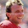 TAMPA, FL - SEPTEMBER 7: QB Joe Montana #16 of the San Francisco 49ERS stands on the sidelines at Tampa Stadium on September 7, 1986 in Tampa, Florida. San Francisco won the NFL game with the Tampa Bay Buccaneers 31 to 7. (Photo by Michael Minardi) *** Local Caption *** Joe Montana