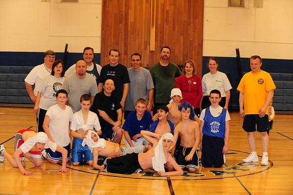 OLW 7th Grade Silver Basketball Team vs. Parents 2010