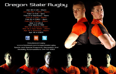 Oregon State Rugby 2014 Team Poster