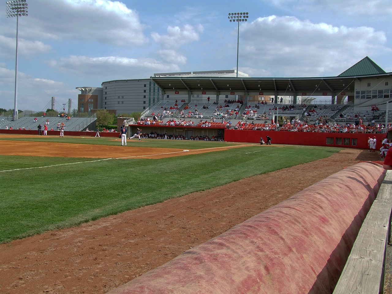 Down the left field line -- Bill Davis Stadium -- OSU.