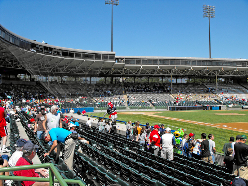 Beautiful summer day --- last year at Cooper Stadium, Columbus Oh.